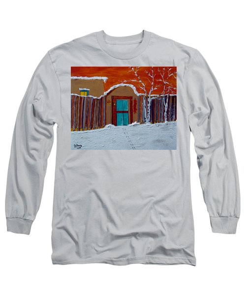 Santa Fe Snowstorm Long Sleeve T-Shirt by Joseph Frank Baraba