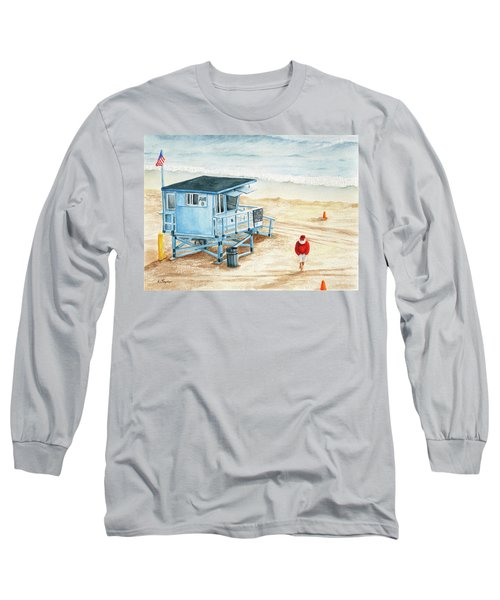 Santa Is On The Beach Long Sleeve T-Shirt