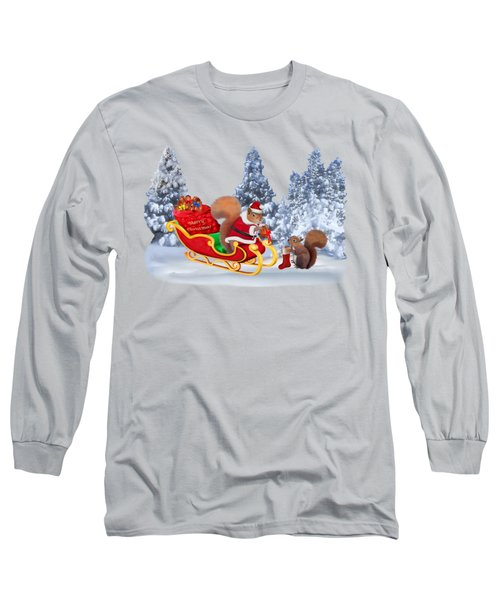 Santa's Little Helper Long Sleeve T-Shirt by Glenn Holbrook