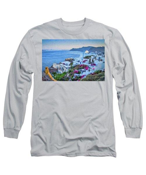 Santorini Greece Dwp416136  Long Sleeve T-Shirt
