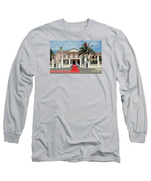 Sao Tome City Hall Long Sleeve T-Shirt by John Potts