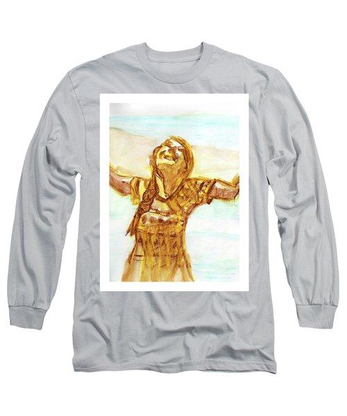 Sarah On The Beach Long Sleeve T-Shirt