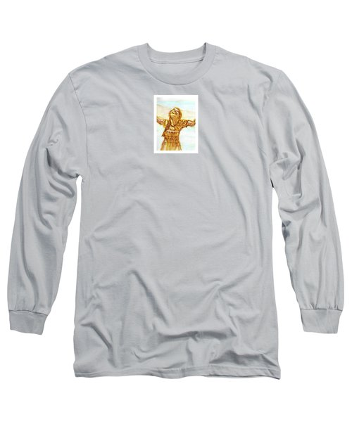 Sarah On The Beach Long Sleeve T-Shirt