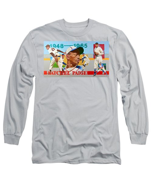 Satchel Paige Long Sleeve T-Shirt by Cliff Spohn