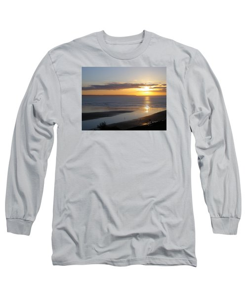 Saunton Sands Sunset Long Sleeve T-Shirt by Richard Brookes