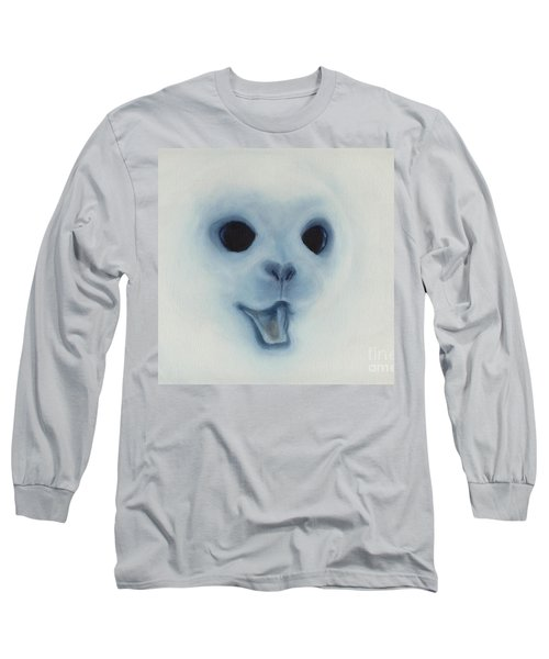 Long Sleeve T-Shirt featuring the painting Save The Baby Seals by Annemeet Hasidi- van der Leij