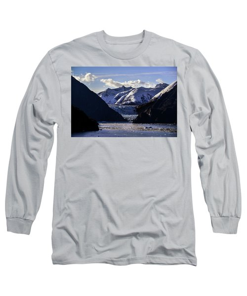 Sawyer Glacier In Tracy Arm Fjord Long Sleeve T-Shirt