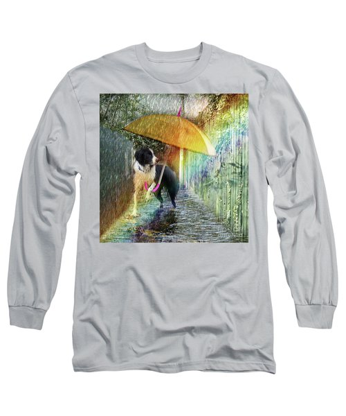 Long Sleeve T-Shirt featuring the photograph Scary Graffiti by LemonArt Photography