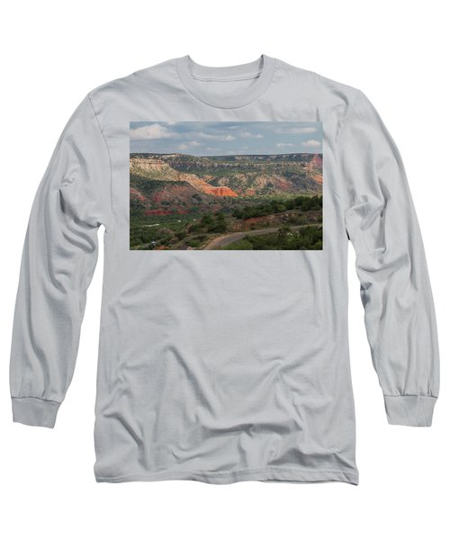 Scenic View Of Palo Duro Canyons Long Sleeve T-Shirt