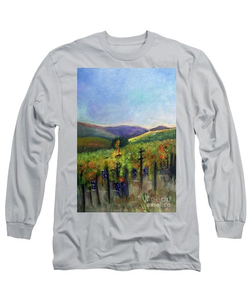 Scotts Vineyard Long Sleeve T-Shirt by Donna Walsh