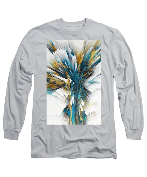 Long Sleeve T-Shirt featuring the painting Sculptural Series Digital Painting 08.072311ex490l by Kris Haas