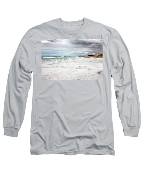 Long Sleeve T-Shirt featuring the photograph Sea Foam And Clouds By Kaye Menner by Kaye Menner