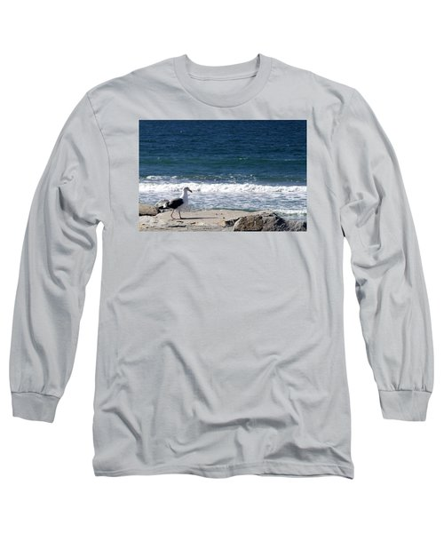 Long Sleeve T-Shirt featuring the photograph Seagull  by Christopher Woods