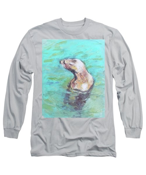 Sea Lion Long Sleeve T-Shirt by Yoshiko Mishina