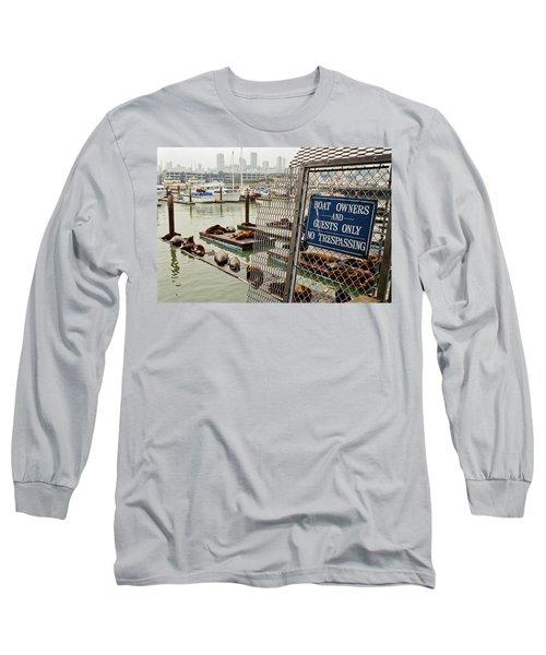 Sea Lions Take Over, San Francisco Long Sleeve T-Shirt