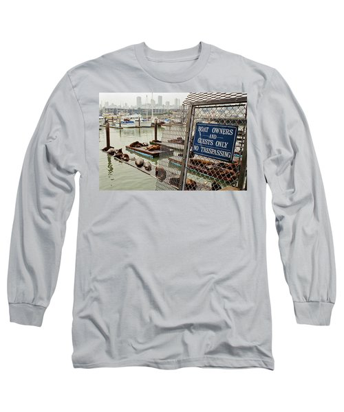 Sea Lions Take Over, San Francisco Long Sleeve T-Shirt
