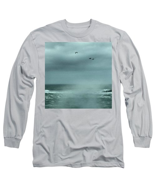 Sea Spray Long Sleeve T-Shirt by Christine Lathrop