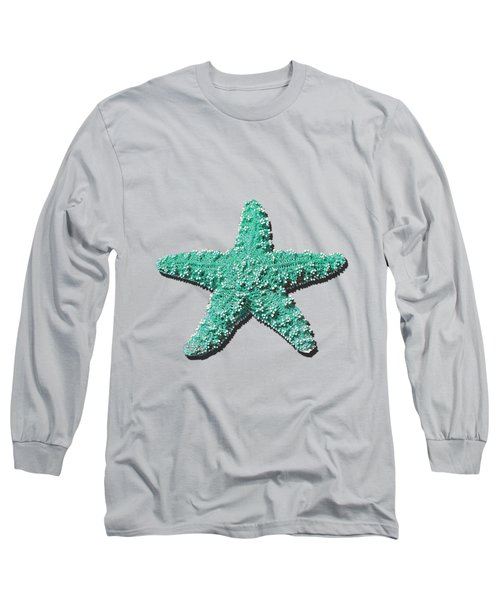Long Sleeve T-Shirt featuring the photograph Sea Star Aqua .png by Al Powell Photography USA