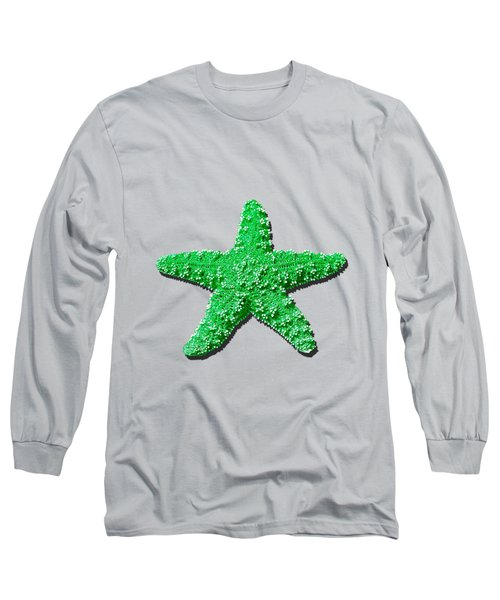 Long Sleeve T-Shirt featuring the photograph Sea Star Green .png by Al Powell Photography USA