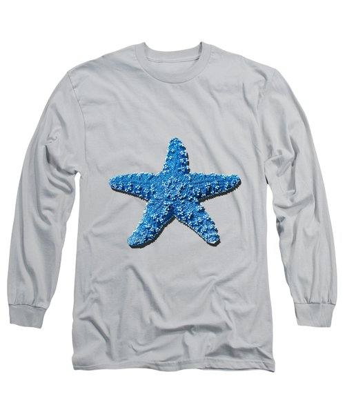 Long Sleeve T-Shirt featuring the photograph Sea Star Medium Blue .png by Al Powell Photography USA