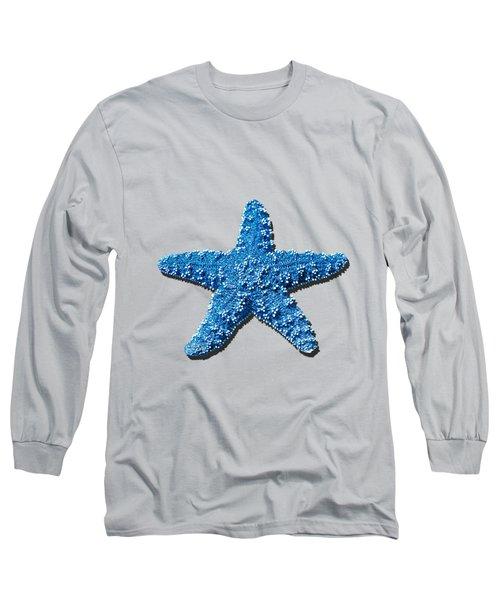 Sea Star Medium Blue .png Long Sleeve T-Shirt