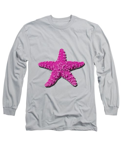Long Sleeve T-Shirt featuring the photograph Sea Star Pink .png by Al Powell Photography USA