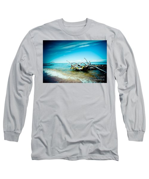 Seacost With Old Tree In Water Kolka Long Sleeve T-Shirt