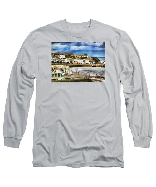 Long Sleeve T-Shirt featuring the photograph Seafront Broadstairs Kent by Leigh Kemp