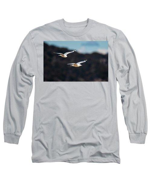 Seagulls In Flight Long Sleeve T-Shirt