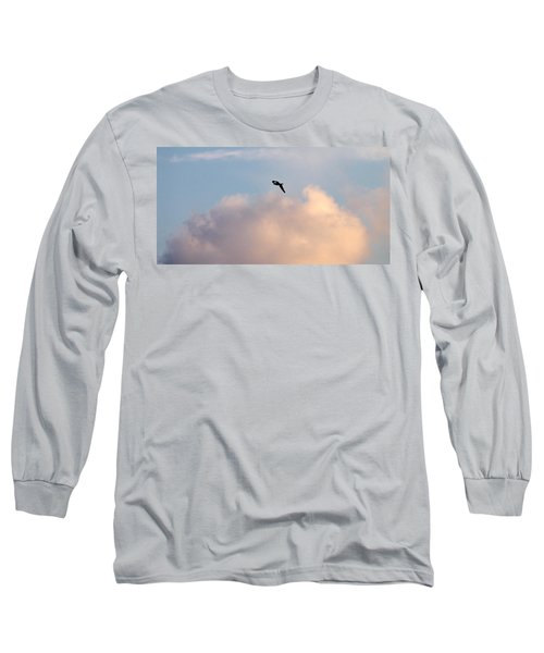 Long Sleeve T-Shirt featuring the photograph Seagull's Sky 3 by Jouko Lehto