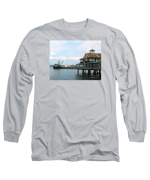 Seaport Village San Diego-2 Long Sleeve T-Shirt by Cheryl Del Toro