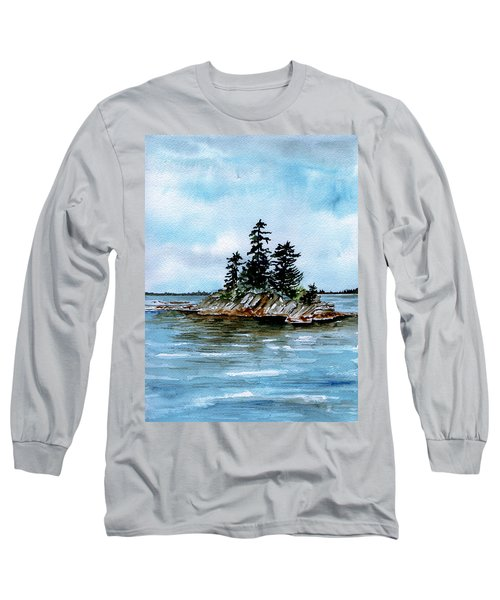 Seascape Casco Bay Maine Long Sleeve T-Shirt