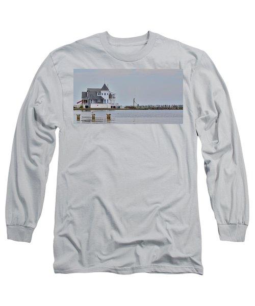 Long Sleeve T-Shirt featuring the photograph Seaside Park Yacht Club by Sami Martin