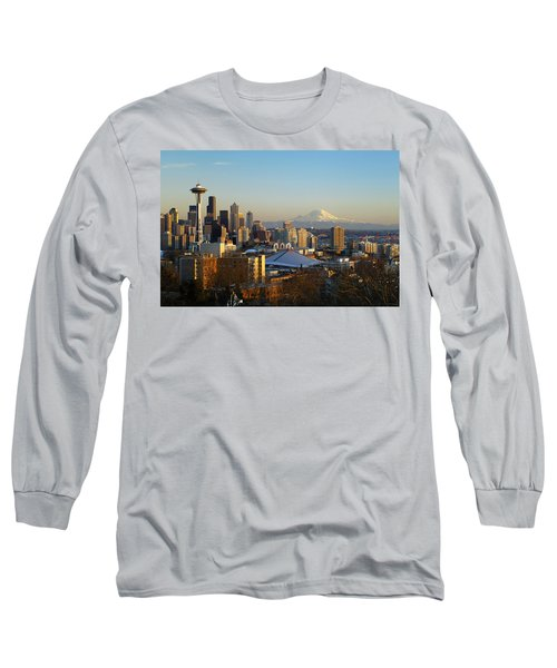 Seattle Cityscape Long Sleeve T-Shirt by Greg Vaughn - Printscapes