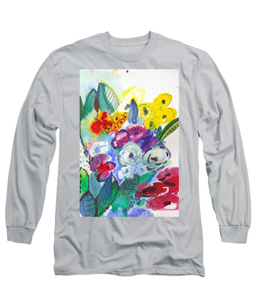 Secret Garden With Wild Flowers Long Sleeve T-Shirt