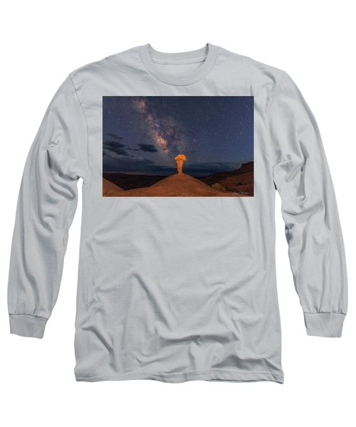 Secret Spire And The Milky Way Horizontal Long Sleeve T-Shirt