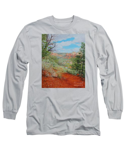 Long Sleeve T-Shirt featuring the painting Sedona Trail by Mike Ivey
