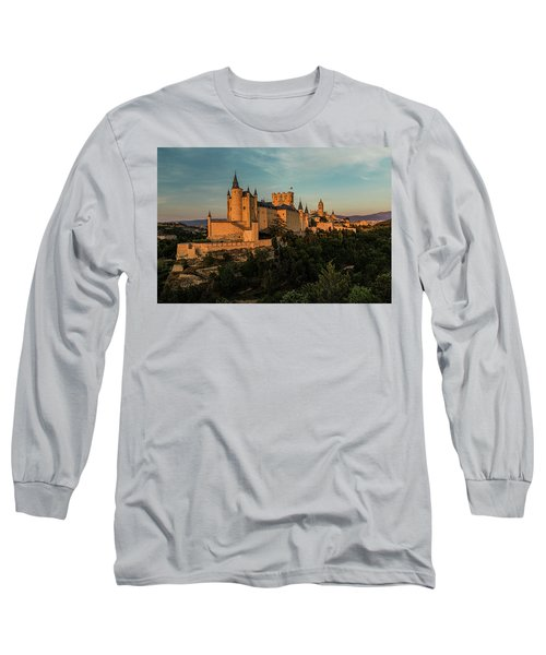 Segovia Alcazar And Cathedral Golden Hour Long Sleeve T-Shirt