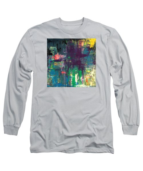 Seize The Day 48x48 Print Abstract Painting Modern Art Original Long Sleeve T-Shirt
