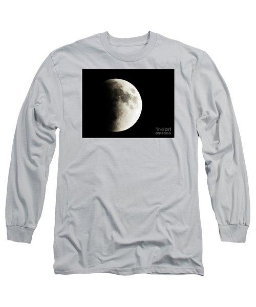 September 27,2015 Moon Eclipse  Long Sleeve T-Shirt by J L Zarek