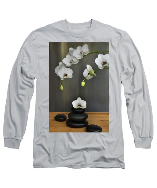 Long Sleeve T-Shirt featuring the photograph Serene Orchid by Terence Davis