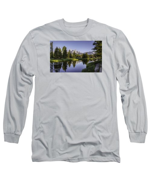 Serene Schwabachers Long Sleeve T-Shirt by Mary Angelini