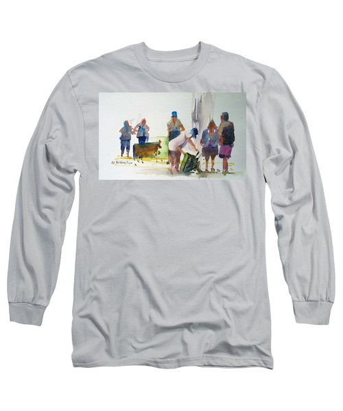 Setting Up Long Sleeve T-Shirt