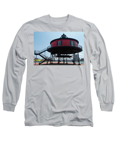Seven-foot Knoll Lighthouse Long Sleeve T-Shirt