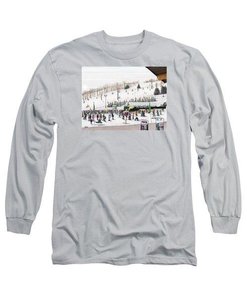 Seven Springs Stowe Slope Long Sleeve T-Shirt by Albert Puskaric