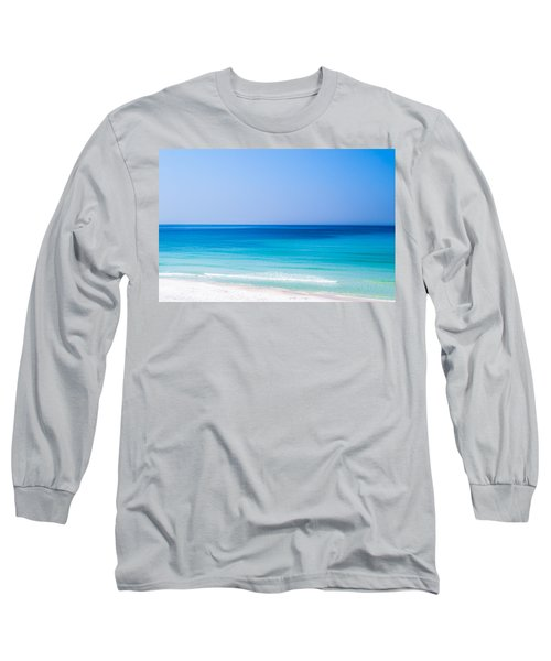 Shades Of Blue Long Sleeve T-Shirt by Shelby  Young