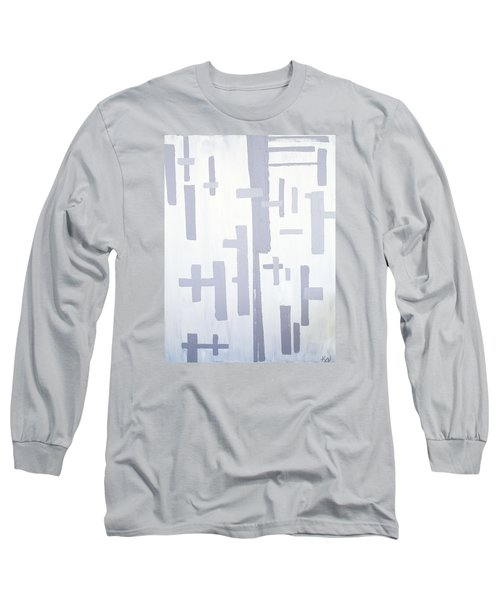 Long Sleeve T-Shirt featuring the painting Shades Of Gray by Karen Nicholson