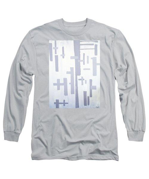 Shades Of Gray Long Sleeve T-Shirt by Karen Nicholson