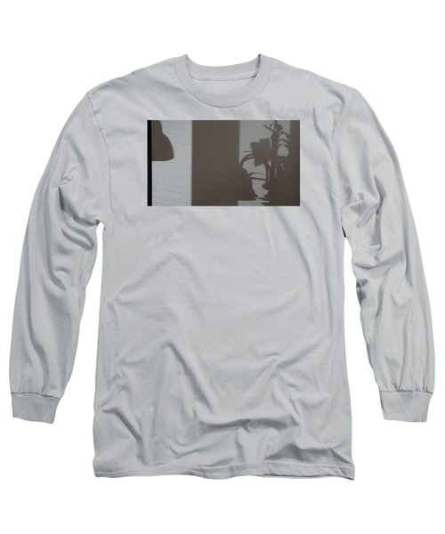 Long Sleeve T-Shirt featuring the mixed media Shadow Panel 1 by Don Koester