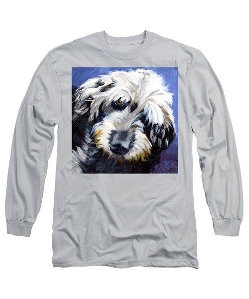 Shaggy Dog Portrait Long Sleeve T-Shirt